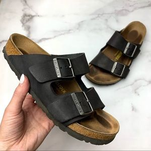 BIRKENSTOCK Women's Brown Two Buckle Sandals Sz 37